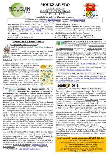 Mouez ar Vro 1053 du 8 novembre 2019