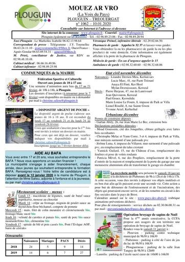 Mouez ar Vro 1062 du 10 janvier 2020