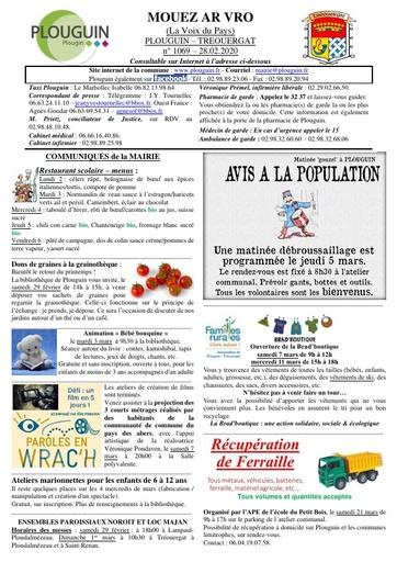 Mouez ar Vro 1069 du 28 février 2020