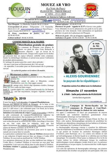 Mouez ar Vro 1054 du 15 novembre 2019