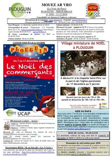 Mouez ar Vro 1058 du 13 décembre 2019