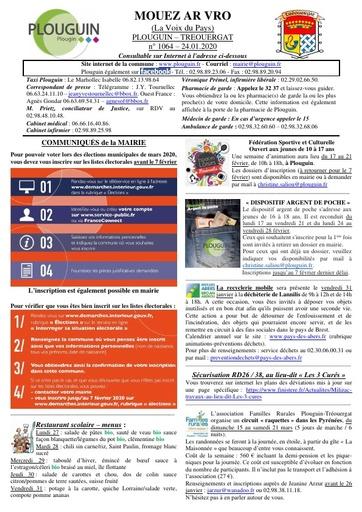 Mouez ar Vro 1064 du 24 janvier 2020
