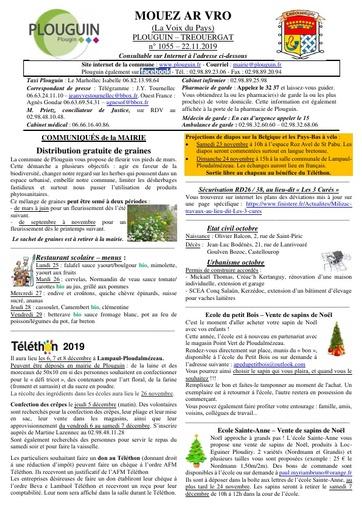 Mouez ar Vro 1055 du 22 novembre 2019