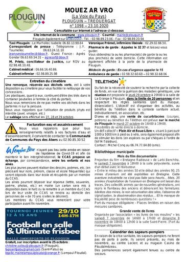 Mouez ar Vro 1098 du 23 octobre 2020