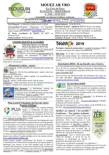 Mouez ar Vro 1046 du 20 septembre 2019