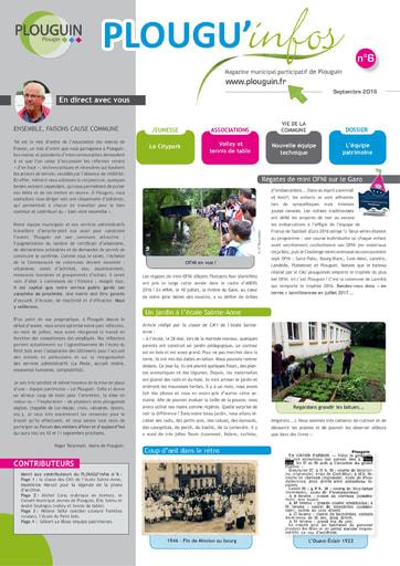 PLOUGU'infos n°6 - Septembre 2016