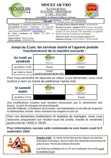 Mouez ar Vro 1082 du 29 mai 2020