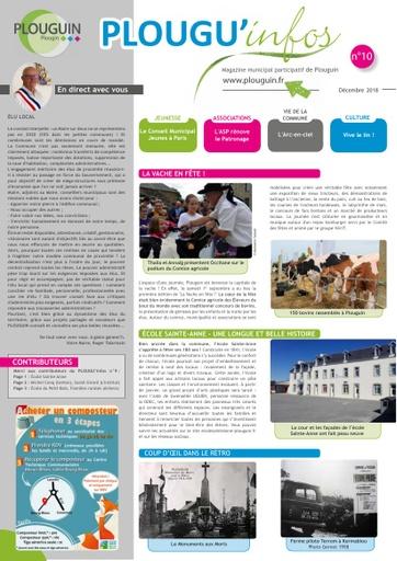 PLOUGU'infos n°10 - Décembre 2018
