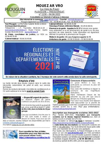Mouez ar Vro 1130 du 4 juin 2021