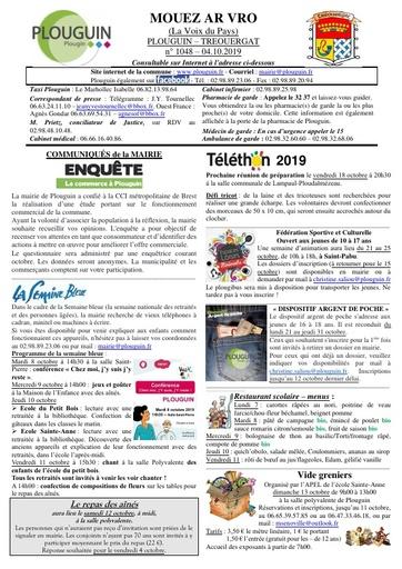 Mouez ar Vro 1048 du 4 octobre 2019