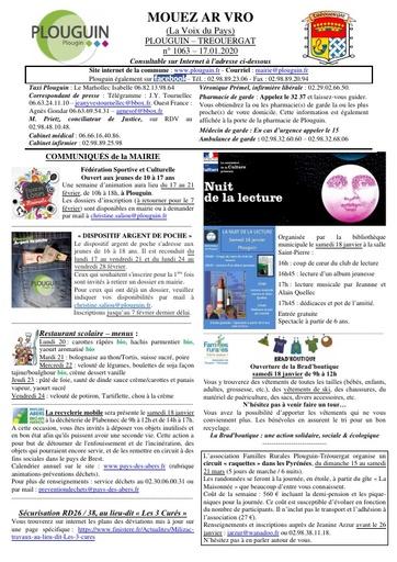 Mouez ar Vro 1063 du 17 janvier 2020