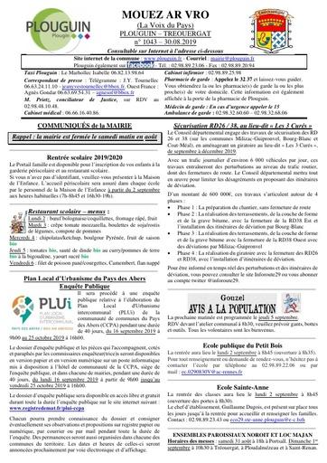 Mouez ar Vro 1043 du 30 août 2019