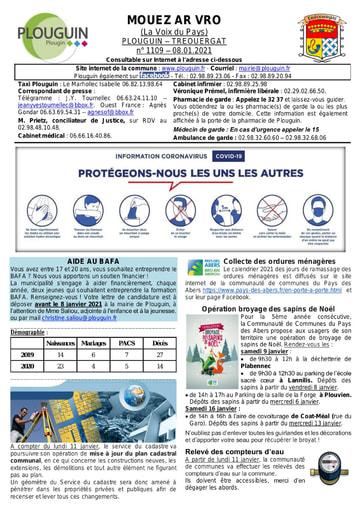 Mouez ar Vro 1109 du 8 janvier 2021