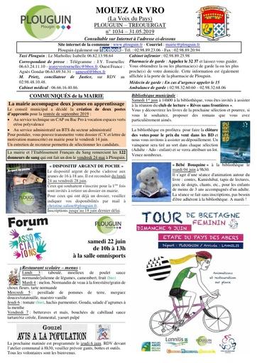 Mouez ar Vro 1034 du 31 mai 2019