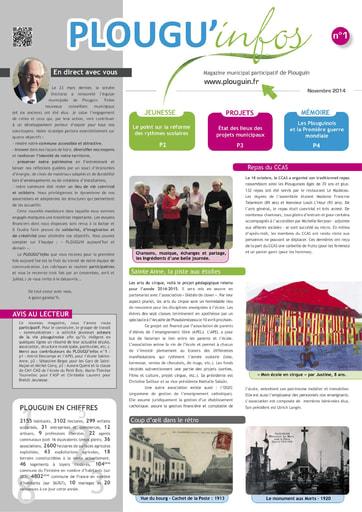 PLOUGU'infos n°1 - Novembre 2014