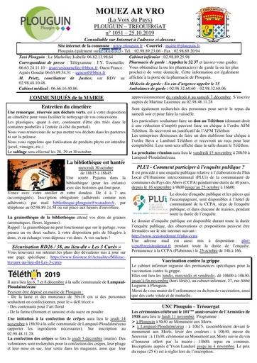 Mouez ar Vro 1051 du 25 octobre 2019