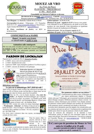 Mouez ar Vro 991 du 6 juillet 2018