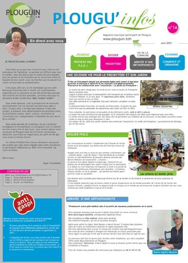 PLOUGU'infos n°14 - Juin 2021