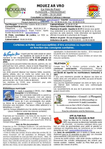 Mouez ar Vro 1099 du 30 octobre 2020