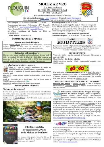 Mouez ar Vro 1038 du 28 juin 2019
