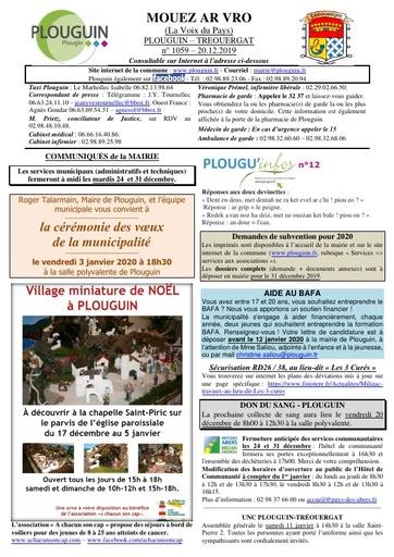 Mouez ar Vro 1059 du 20 décembre 2019