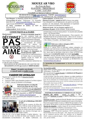 Mouez ar Vro 1040 du 12 juillet 2019