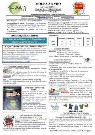 Mouez ar Vro 1014 du 11 janvier 2019