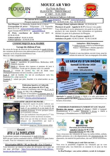 Mouez ar Vro 1065 du 31 janvier 2020