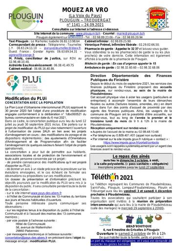 Mouez ar Vro 1141 du 24 septembre 2021