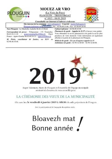 Mouez ar Vro 1013-1 du 04 janvier 2019