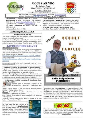 Mouez ar Vro 1031 du 10 mai 2019