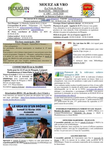 Mouez ar Vro 1067 du 14 février 2020