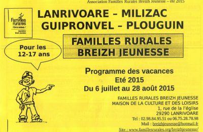 Breizh Jeunesse - Programme de l'été